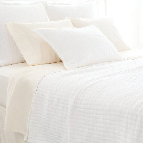 Boyfriend white matelasse coverlet King