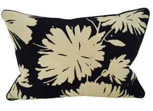 14x20 Pillow-Piped-Daisyfield Black