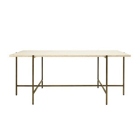 """Elliot"" Coffee Table with Creamy Marble Top"