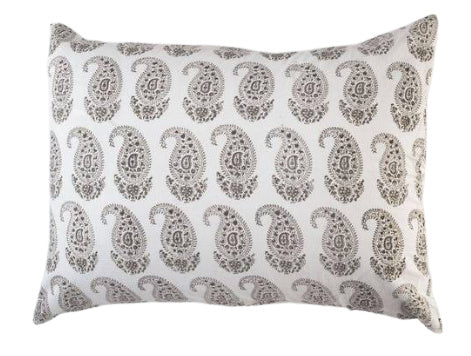 "Les Indiennes ""Claudine"" Standard Sham French Gray"