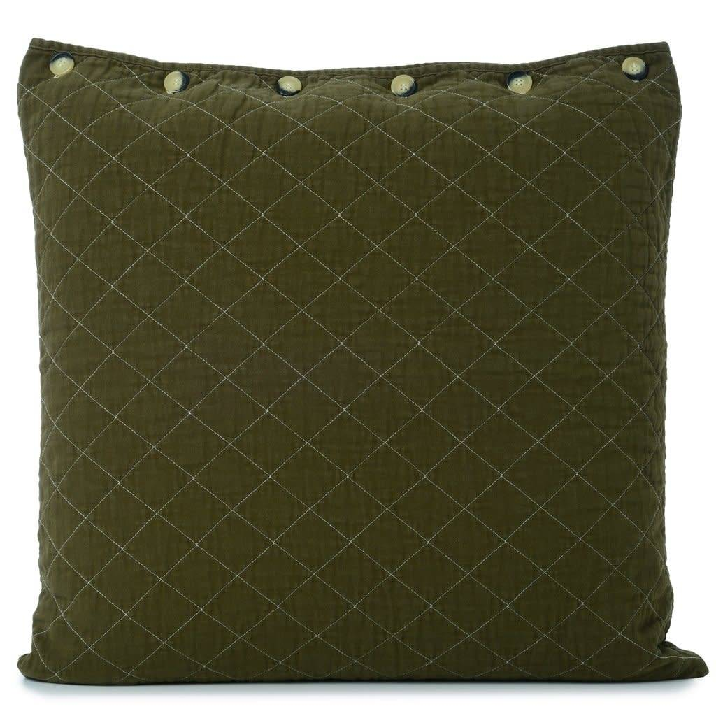 Quilted Euro Sham Olive