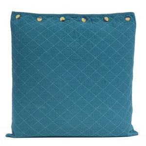 Quilted Euro Sham Teal