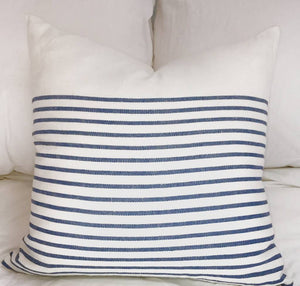 3/4 stripe 22x22, Denim blue