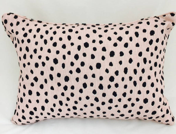 14x20 Pillow-Piped-Fauna (Down) Blush