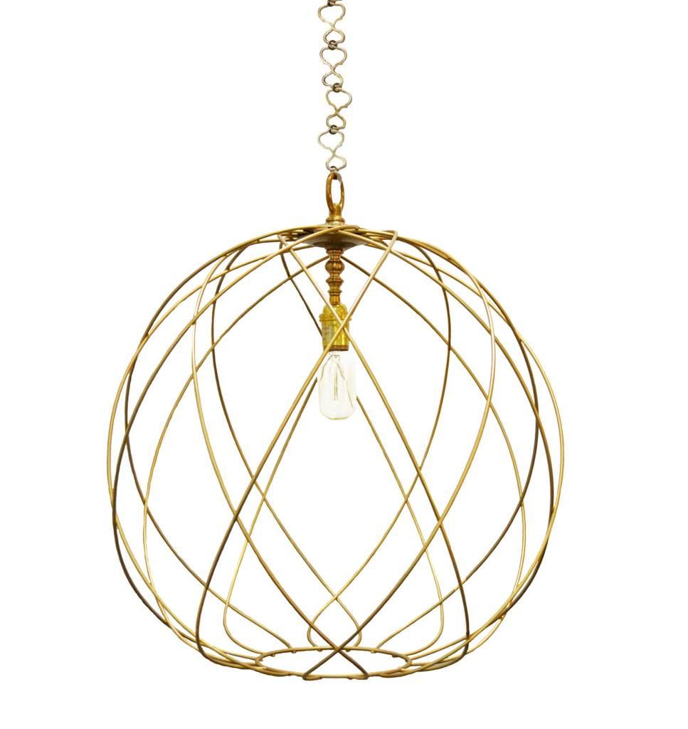 "Gail 16"" gold pendant"