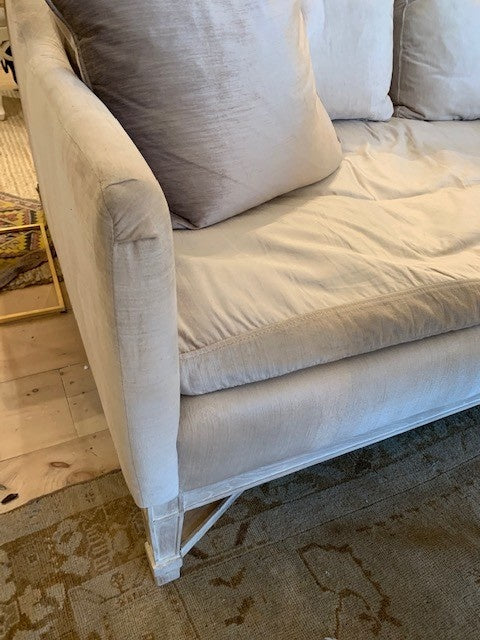 Eloquence Scandinavian Loveseat in Dove Velvet