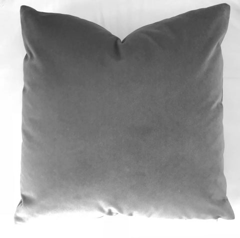 AM Velvet Pillow 22x22, Slate