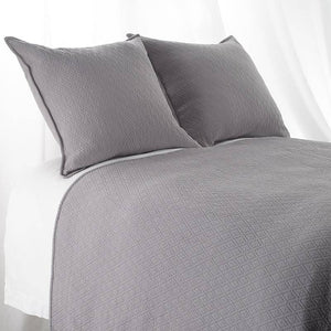 "Queen ""INDI"" Coverlet Diamond Mattelasse Dark Grey"