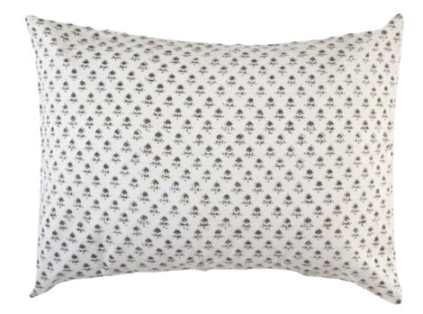 Les indiennes Juliette Standard Pillowcase - French Grey