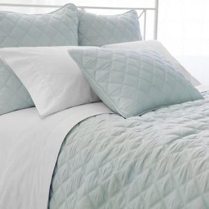 Quilted silken solid robins egg blue - Euro