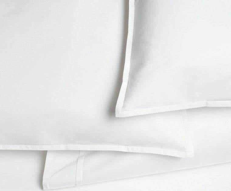 Pleat white Queen fitted sheet