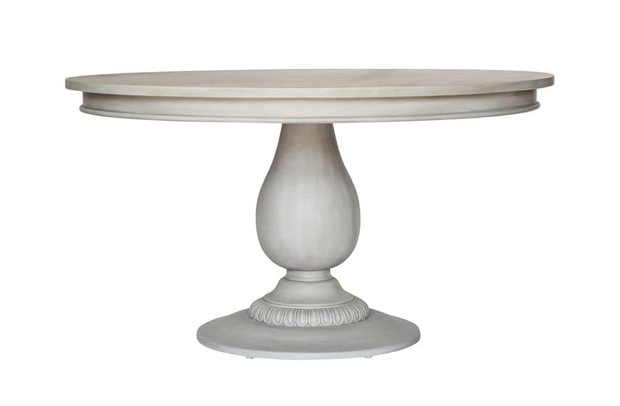 Penelope Pedestal Table- Aged Grey