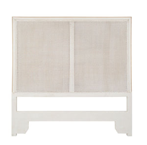 Regent Queen Cane Headboard-Shell White With Gold Accent