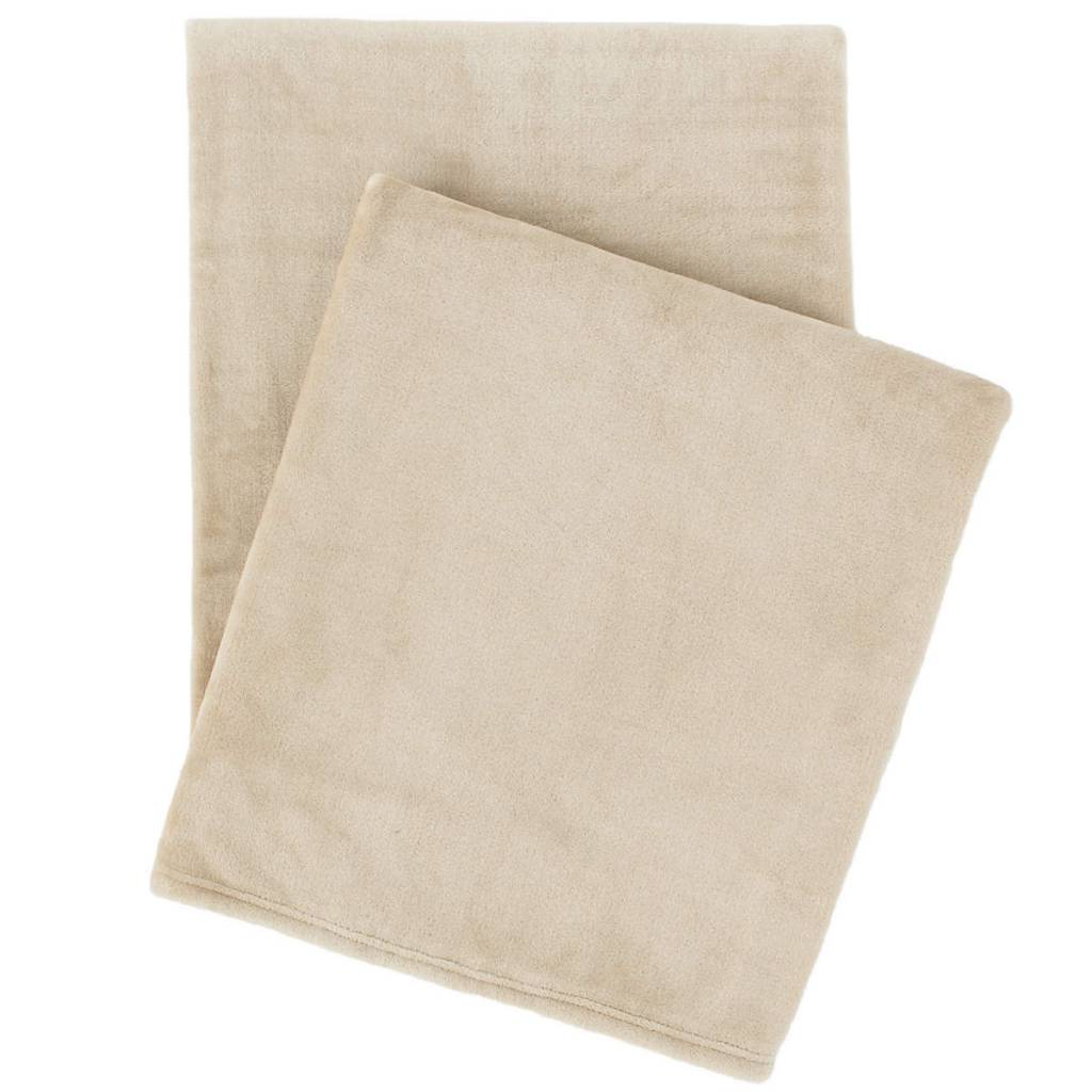 Selke fleece linen throw