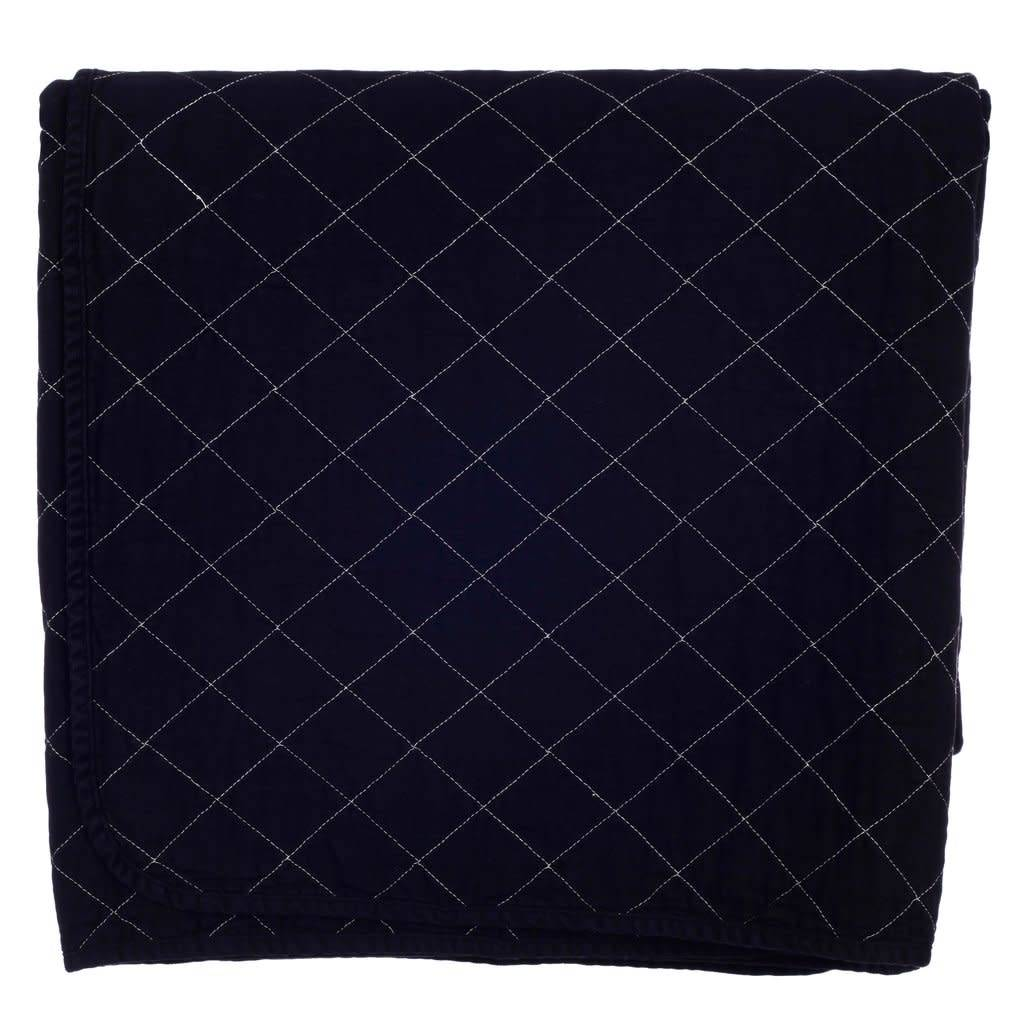 Quilted Throw Black