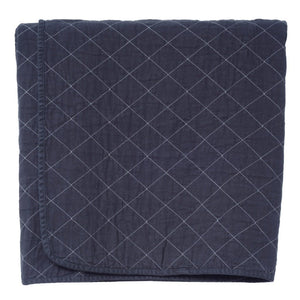 Quilted Throw Charcoal