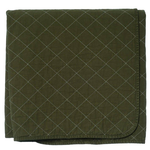 Quilted Throw Olive