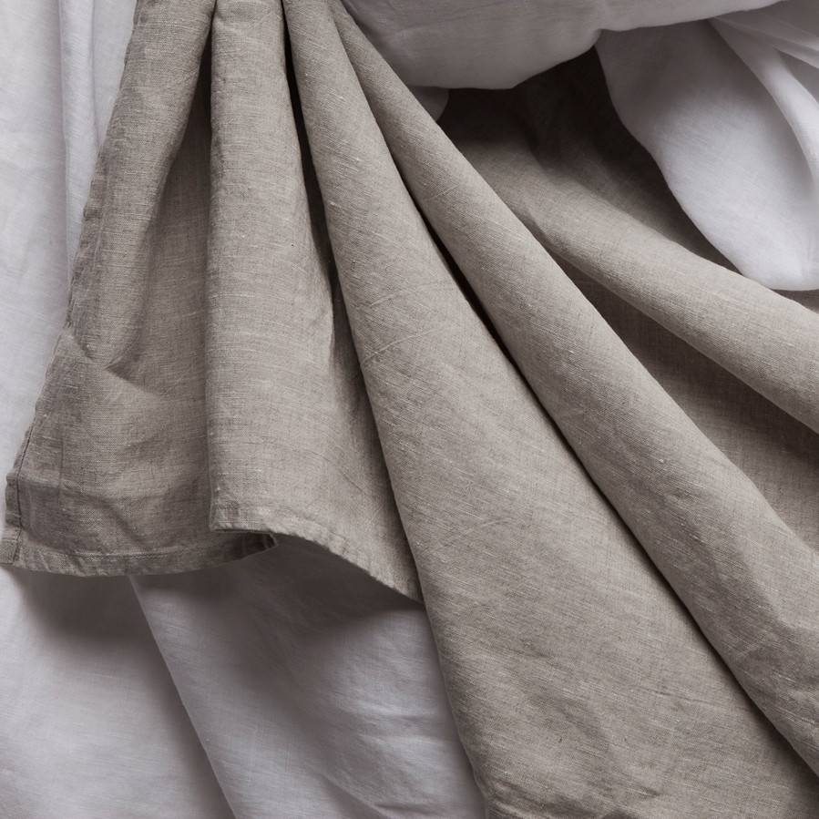 Vintage Linen flat sheet Loomstate Queen