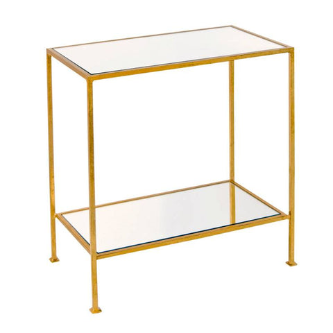2-Tier Gold Leafed Side Table