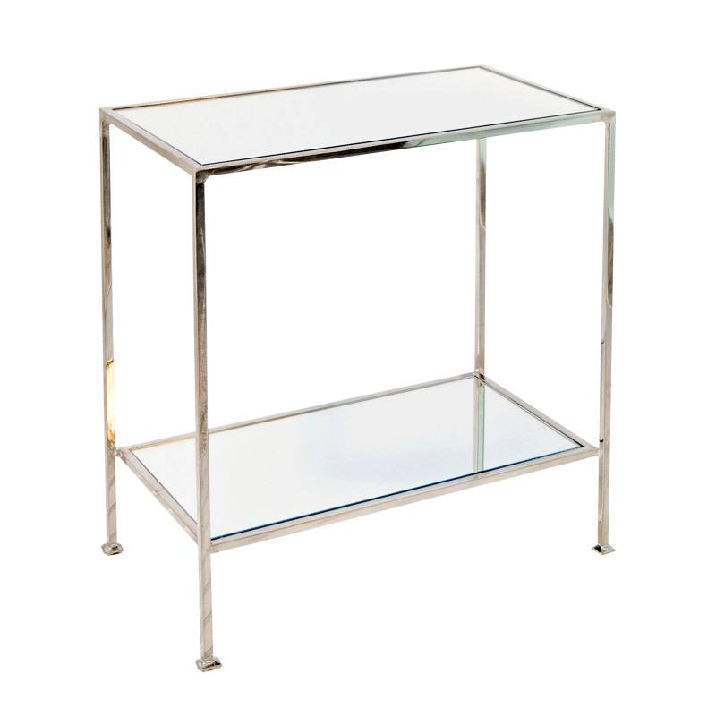 2-Tier Nickel Plated Side Table