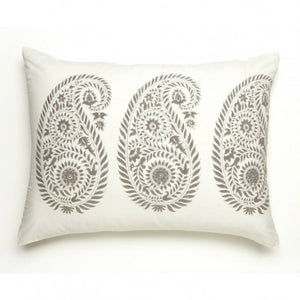 "Les Indiennes ""Yvette"" Standard Pillow French Gray"