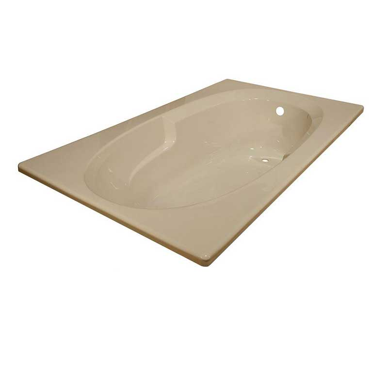 Lyons Industries Classic 5 ft. Reversible Drain Heated Soaking Tub in Almond