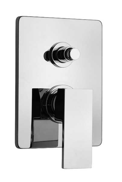 Jewel Faucets Pressure Balanced Valve Body With Diverter and J15 Series Chrome Trim, 15797RIT