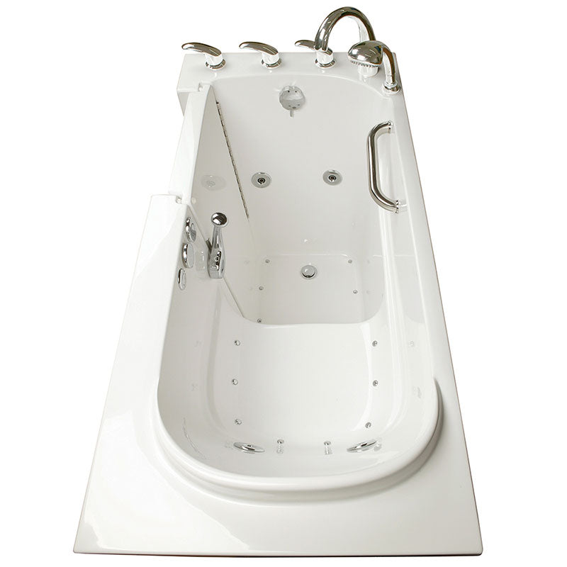 Ella's Bubbles 265304 Narrow 26-in Wide Air & Hydro Massage Walk In Bath 10