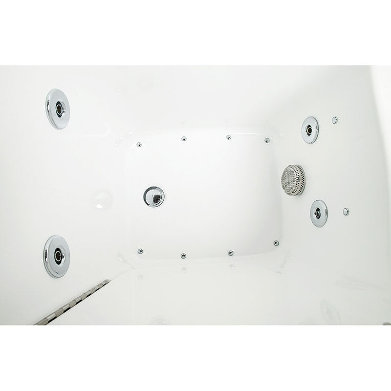 Ella's Bubbles 265304 Narrow 26-in Wide Air & Hydro Massage Walk In Bath 11