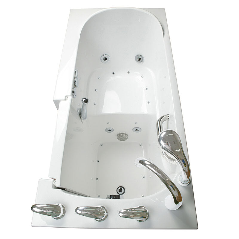 Ella's Bubbles 265304 Narrow 26-in Wide Air & Hydro Massage Walk In Bath 3