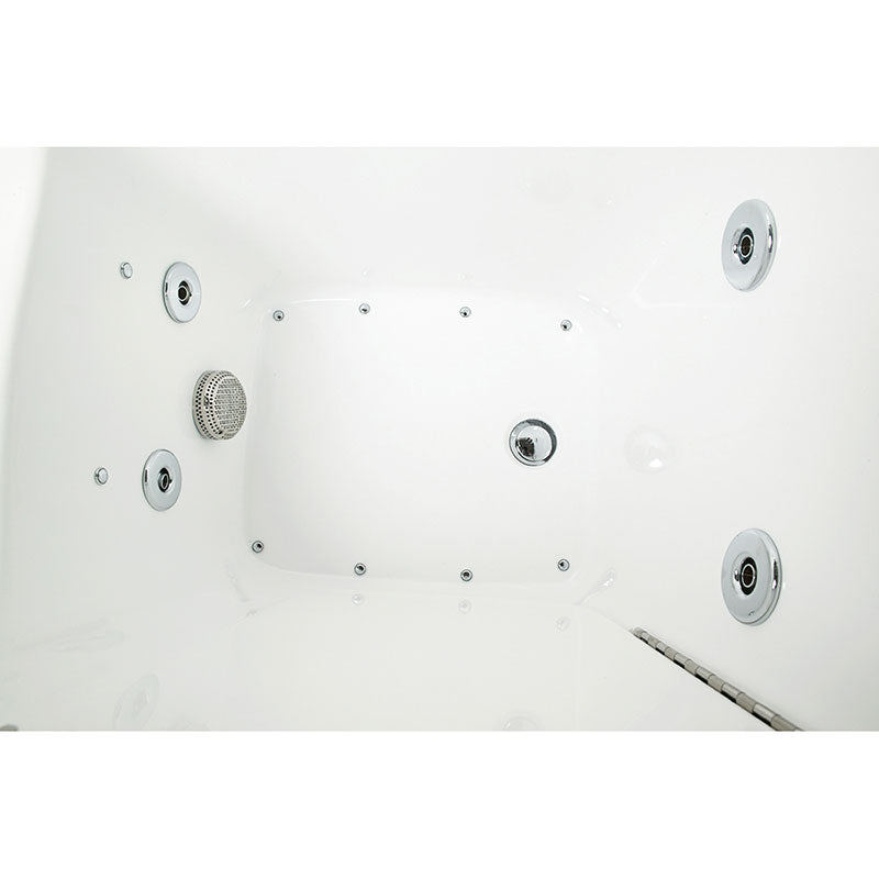 Ella's Bubbles 265304 Narrow 26-in Wide Air & Hydro Massage Walk In Bath 6