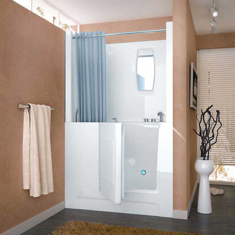 Venzi 27x47 Right Drain White Air Jetted Walk In Bathtub By Meditub