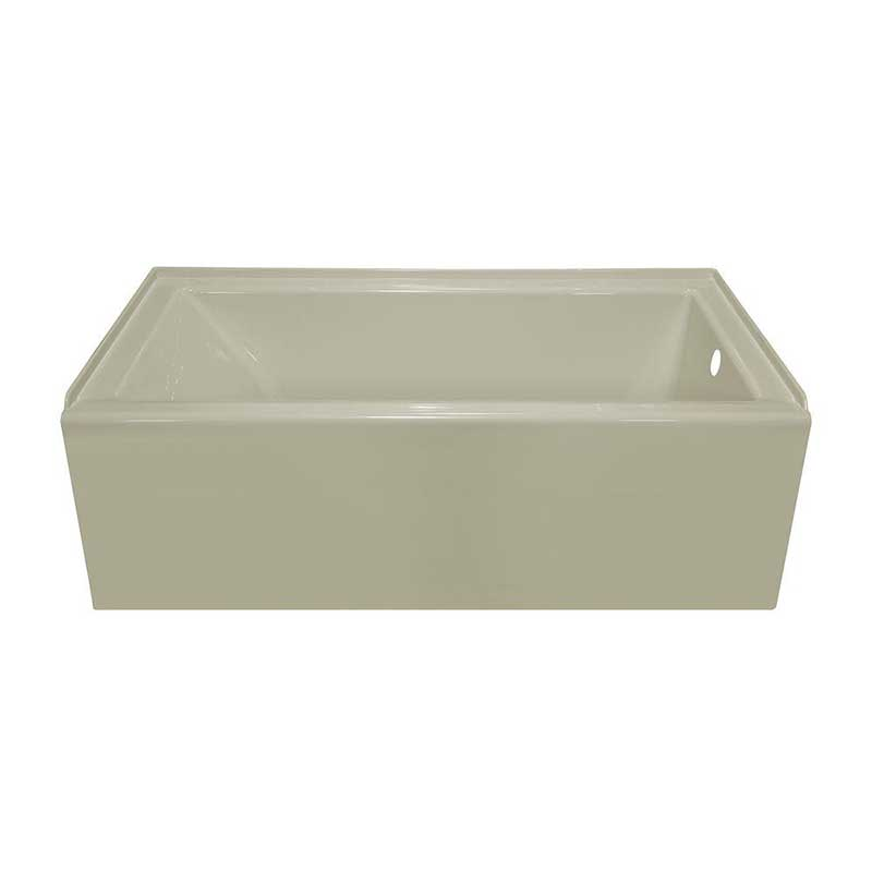 Lyons Industries Linear 5 ft. Right Drain Bathtub in Biscuit