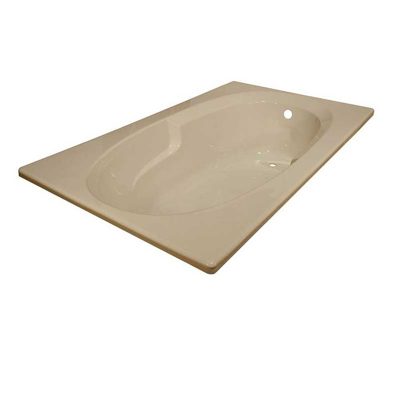 Lyons Industries Classic 5 ft. Reversible Drain Drop-In Soaking Bathtub in Almond