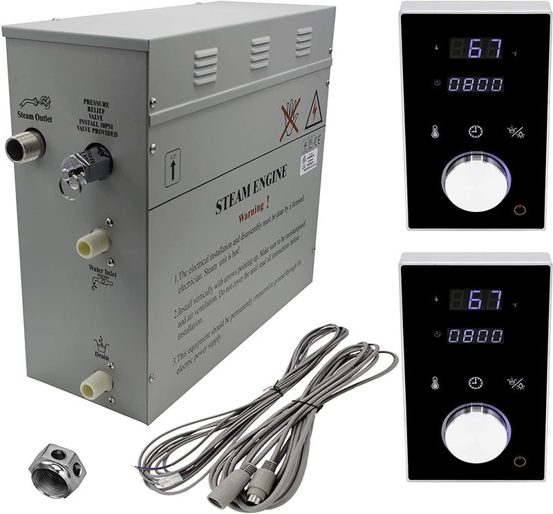 Superior Steam Shower Generator 6kW Dual Keypad DeLuxe System, Self Draining