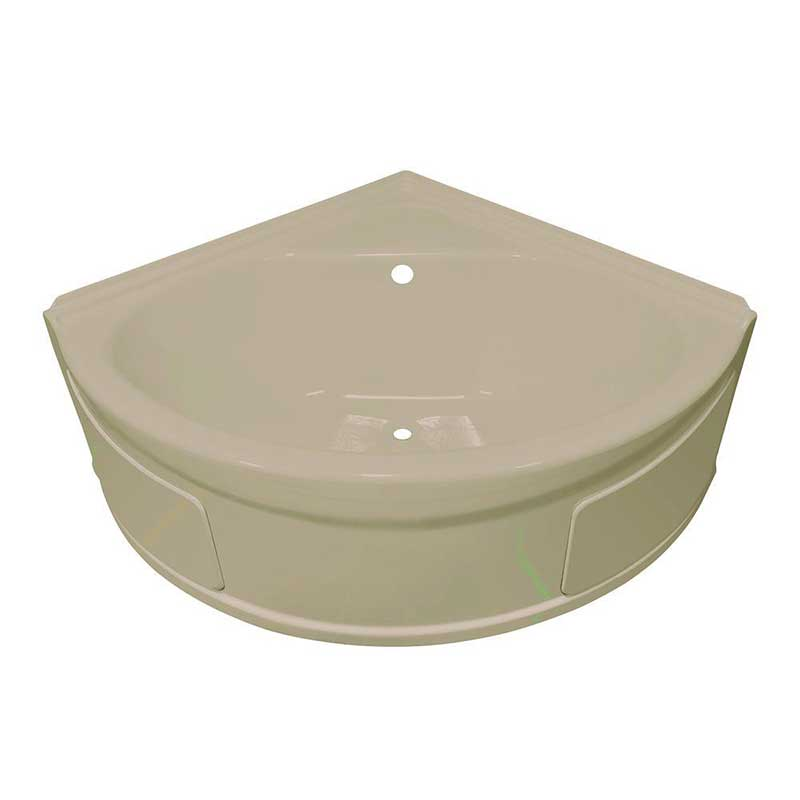 Lyons Industries Sea Wave 4 ft. Whirlpool Tub with Center Drain in Almond