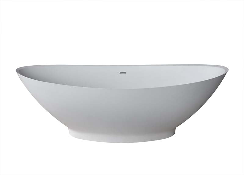 Venzi PietraStone 34 x 73 Man Made Stone Freestanding Bathtub with Center Drain By Atlantis