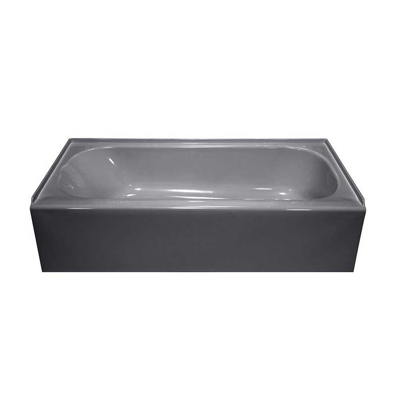 Lyons Industries Victory 4.5 ft. Right Drain Bathtub in Silver Metallic