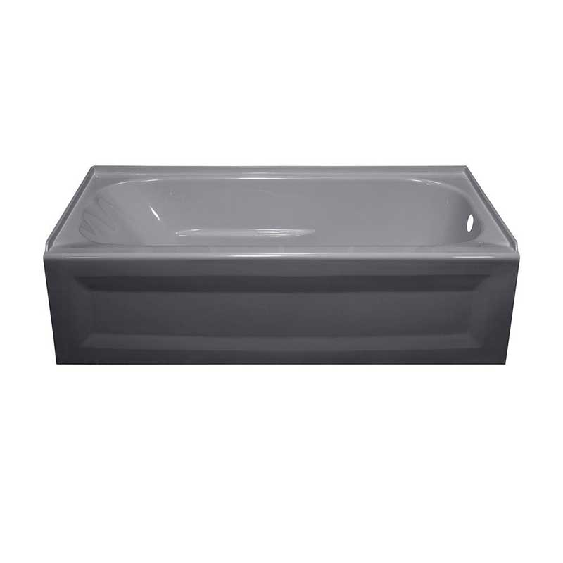 Lyons Industries Elite 4.5 ft. Right Drain Soaking Tub in Silver Metallic