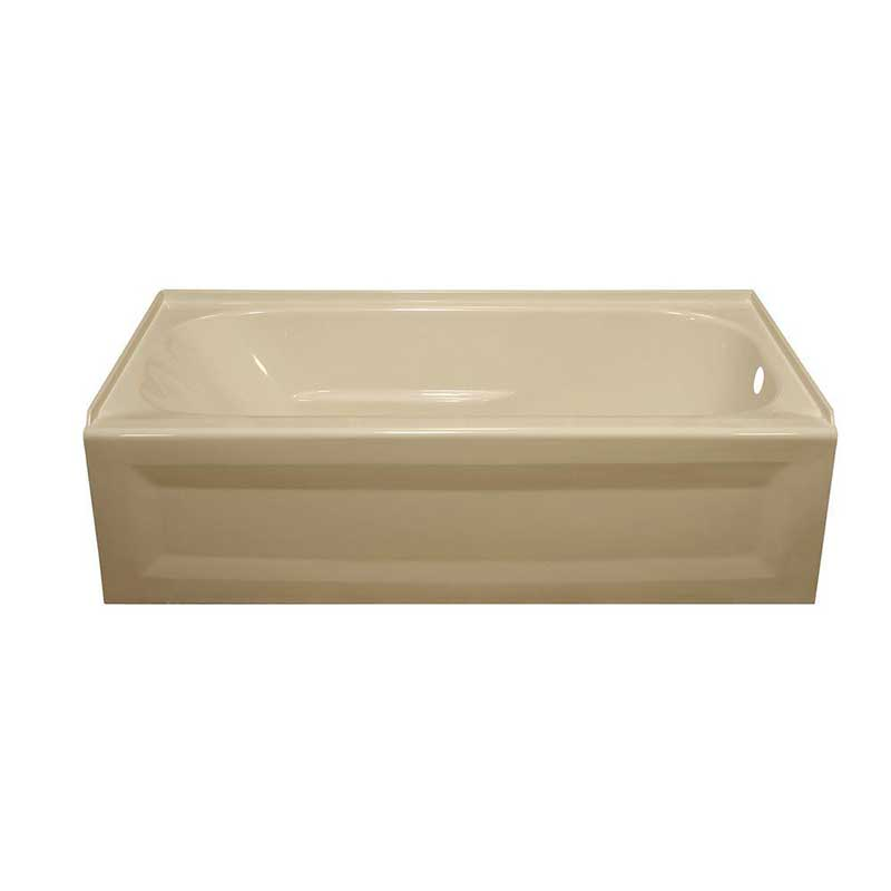 Lyons Industries Elite 4.5 ft. Right Drain Soaking Tub in Almond