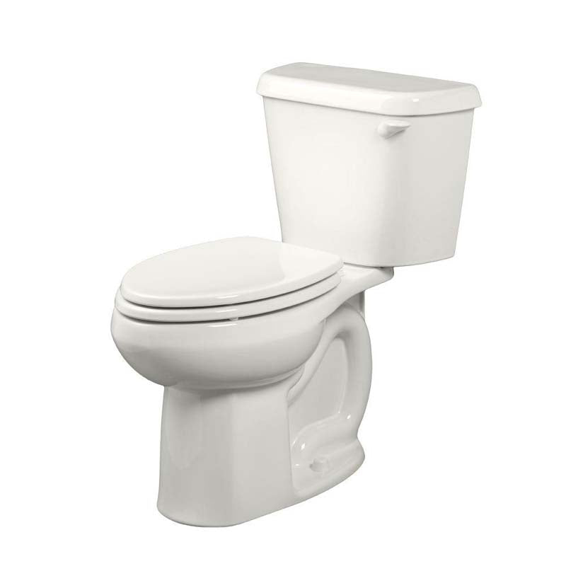 American Standard 221AA005.020 Colony 2-piece 1.6 GPF Right Height Elongated Toilet with Right-Hand Trip Lever in White