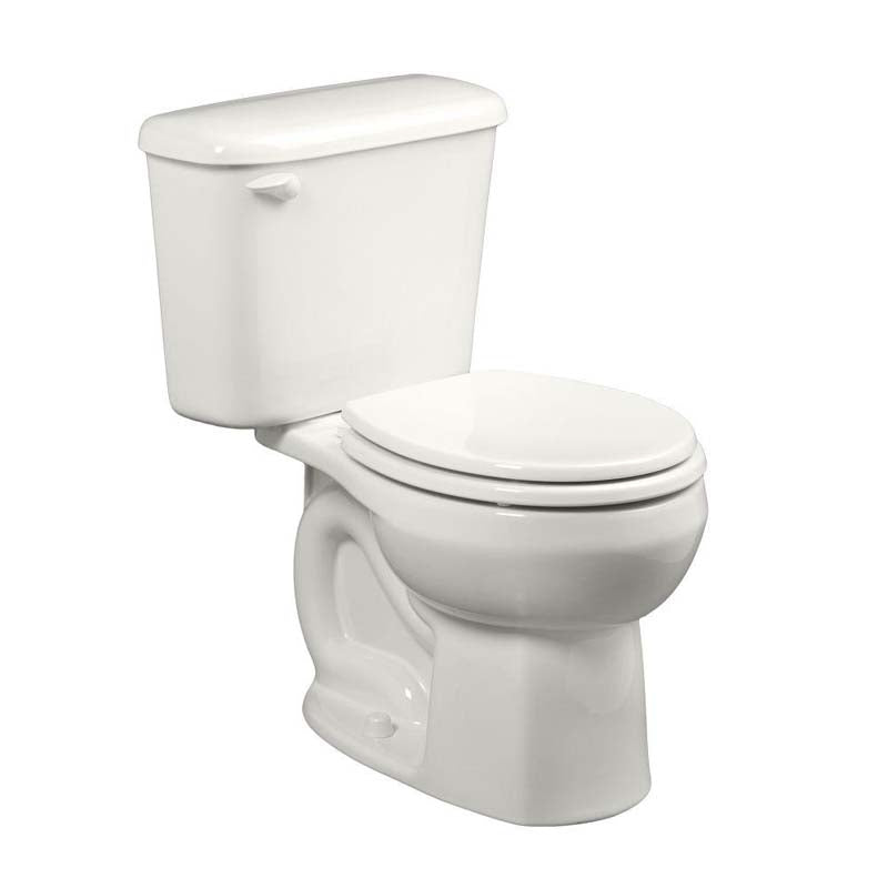 "American Standard 221DB104.020 Colony 2-piece 1.28 GPF Round Toilet for 10"" Rough in White"