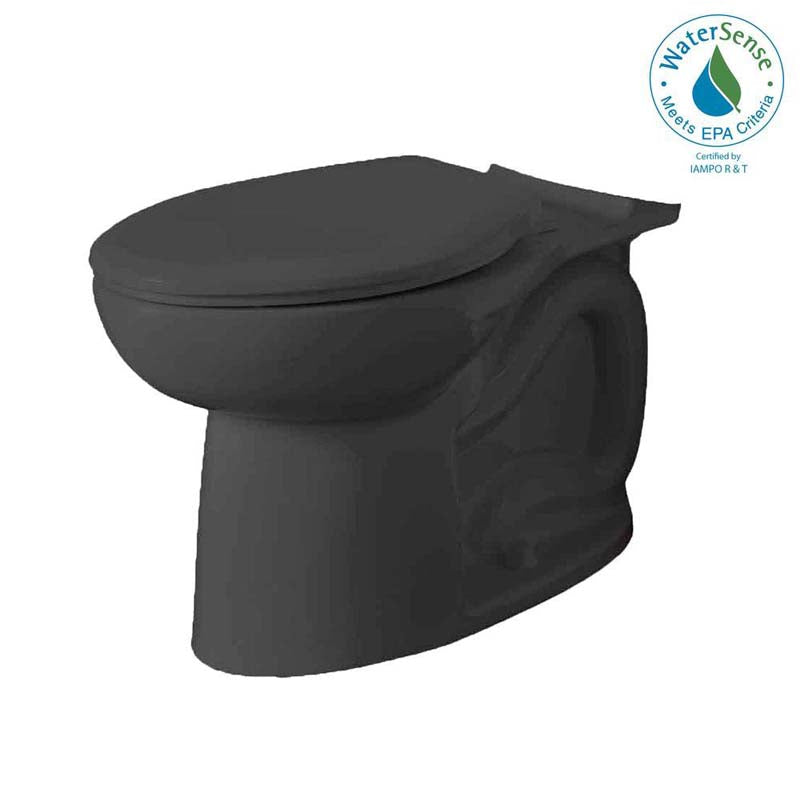 American Standard 3717A.001.178 Cadet 3 FloWise Right Height Elongated Toilet Bowl Only in Black