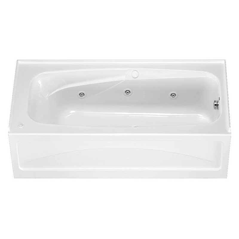 "American Standard Colony 66"" x 32"" Whirlpool Tub with Integral Apron and Hyrdro Massage"