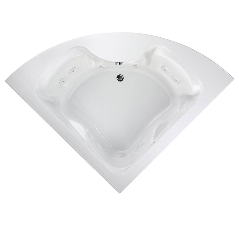 "American Standard Cadet 85"" x 60"" Corner Whirlpool Tub with StayClean Hydro Massage System l"