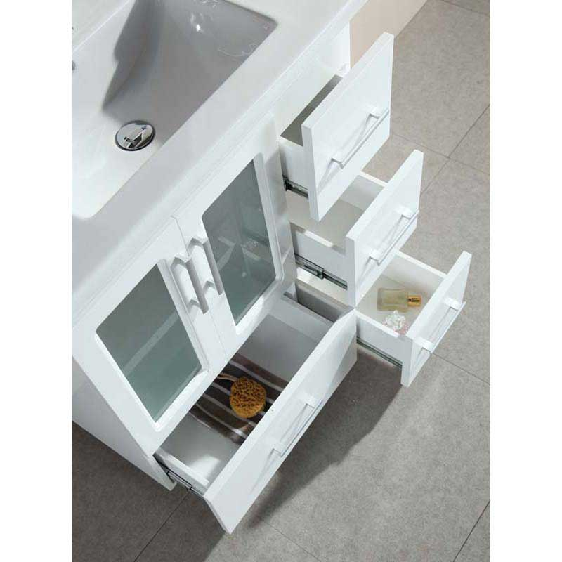 "Design Element Stanton 32"" Single Sink Vanity Set with Drop-in Sink in White 5"