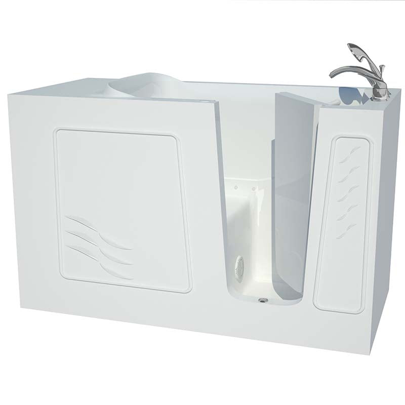 Venzi Artisan Series 30x60 White Air Jetted Walk-In Tub Right By Meditub