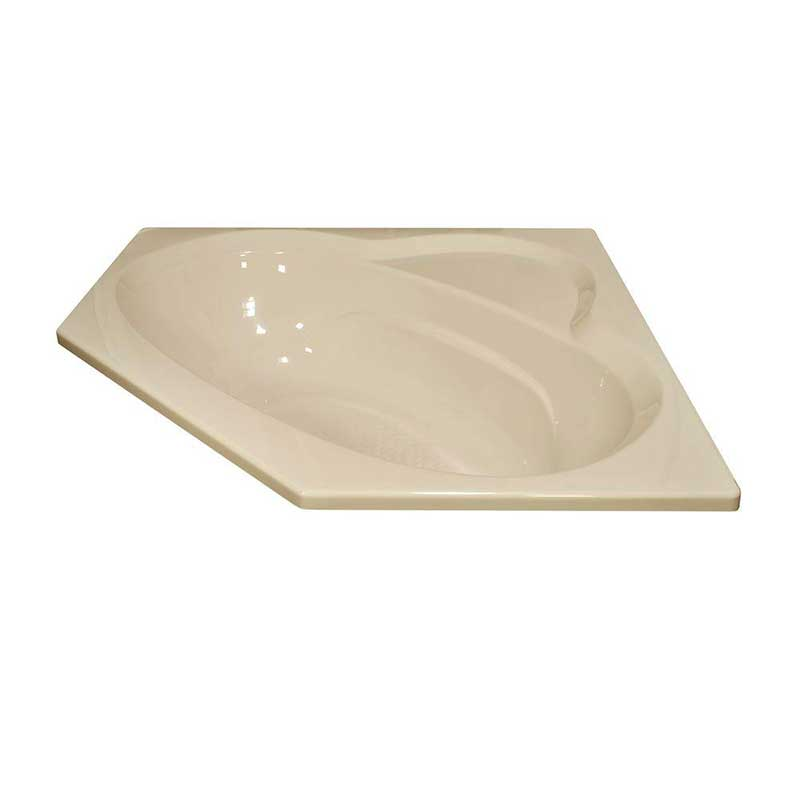 Lyons Industries Classic 5 ft. Front Drain Drop-in Soaking Bathtub in Almond