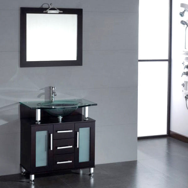 "Cambridge Plumbing Topaz 34"" Single Bathroom Vanity Set"