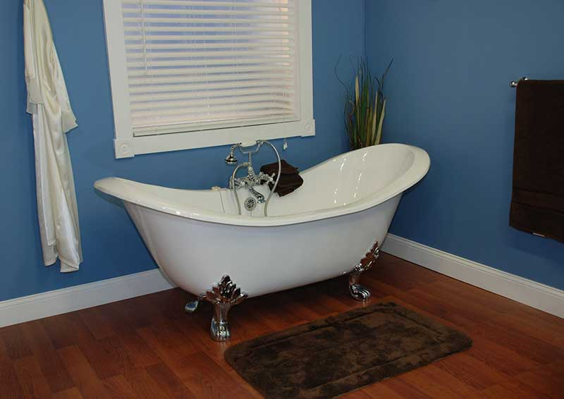 "Cambridge Plumbing 70.75"" x 30.5"" Claw Foot Slipper Tub"